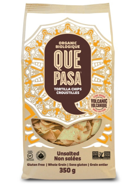 Food & Drink - Que Pasa - Tortilla Chips, Unsalted, 350g