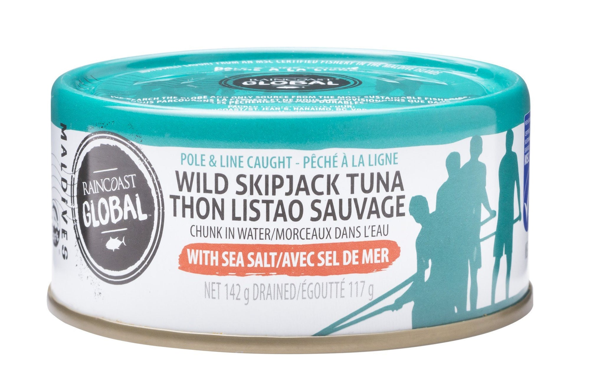 Food & Drink - Raincoast Trading - Skipjack Tuna With Sea Salt, 142g