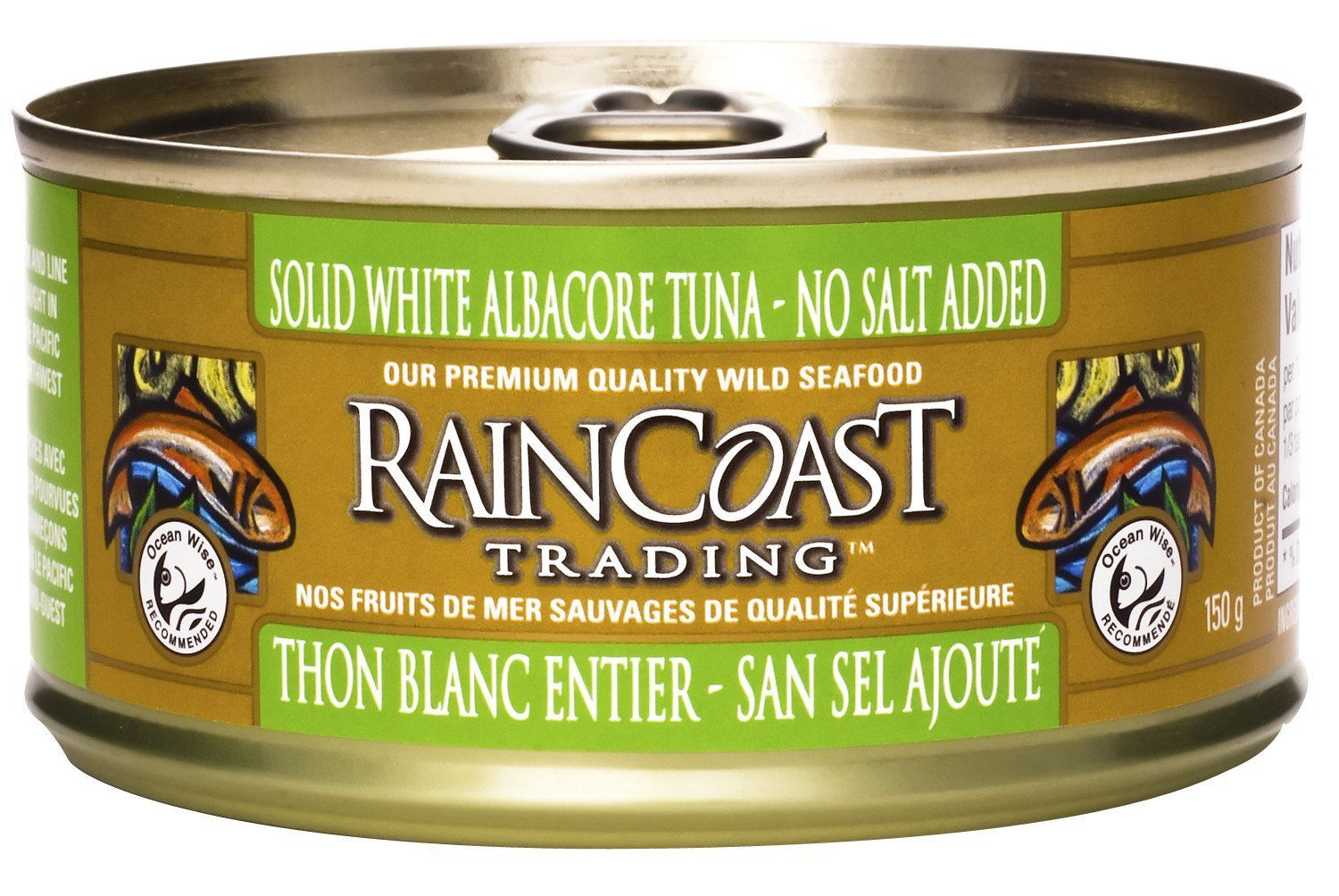 Food & Drink - Raincoast Trading - Solid White Tuna No Salt, 150g
