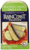 Food & Drink - Raincoast Trading - Wild Pacific Sardines Chili & Lime, 120g