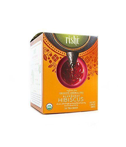 Food & Drink - Rishi Blueberry Hibiscus Tea - 15 Bags