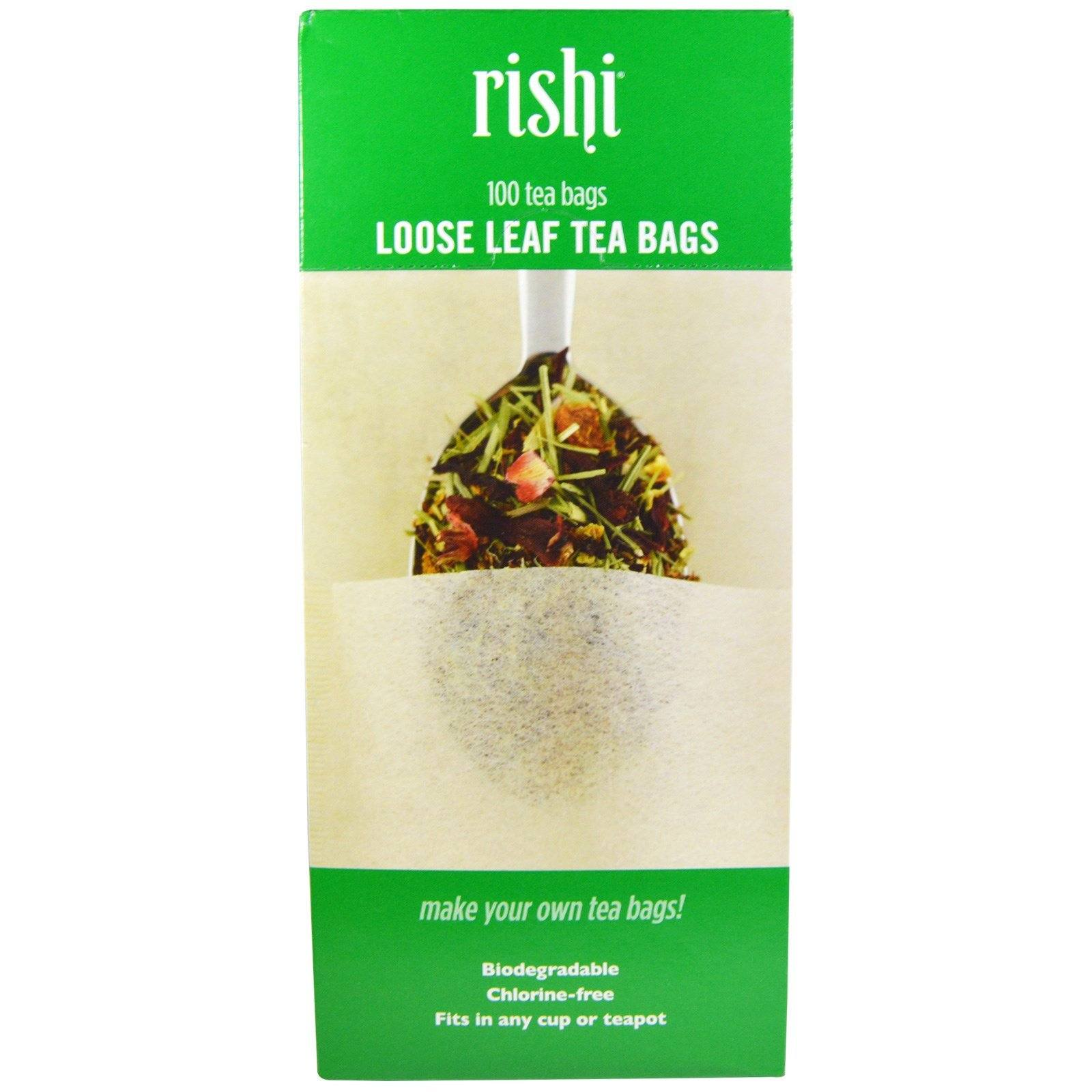 Food & Drink - Rishi -Loose Leaf Tea Bags, 100 Filters