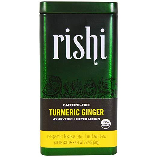 Food & Drink - Rishi Organic Tumeric Ginger Tea - 70g