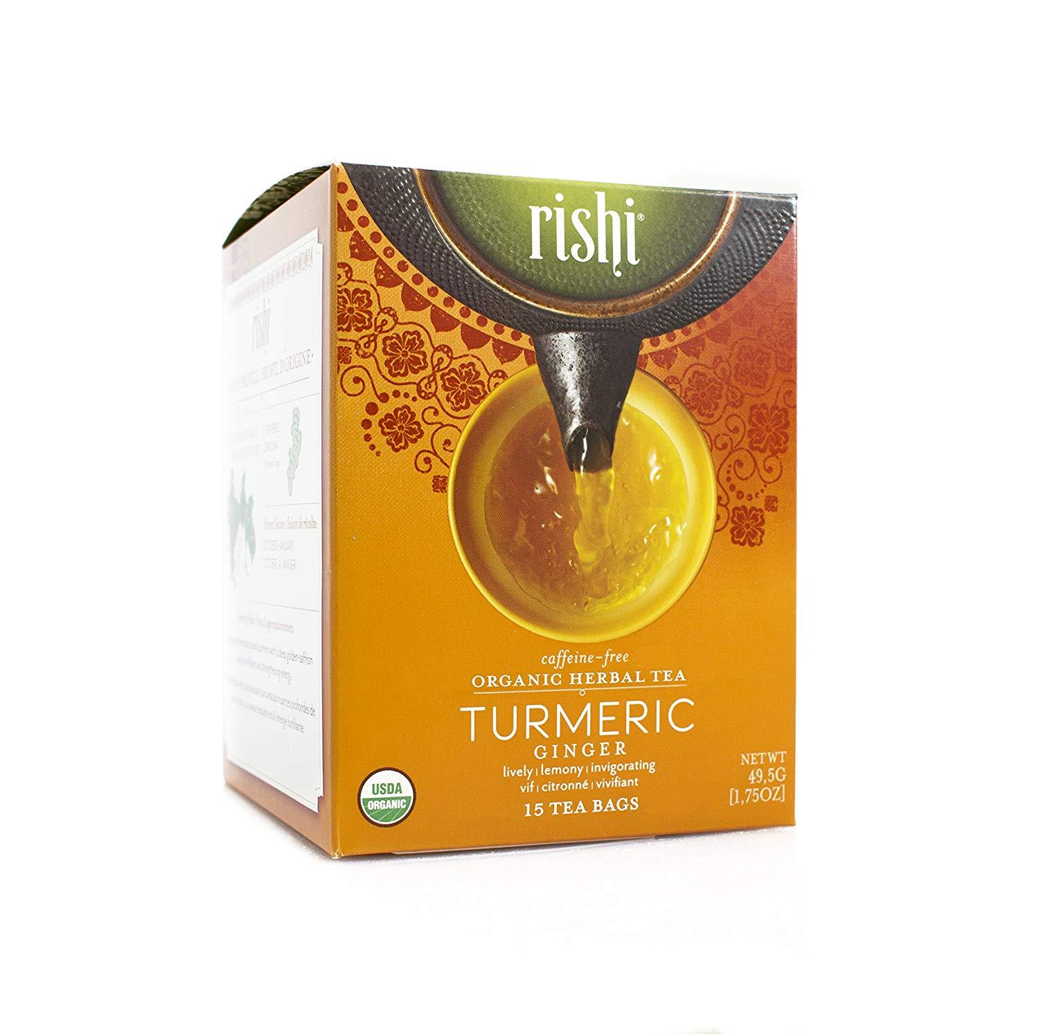 Food & Drink - Rishi Tumeric Ginger Tea - 15 Bags