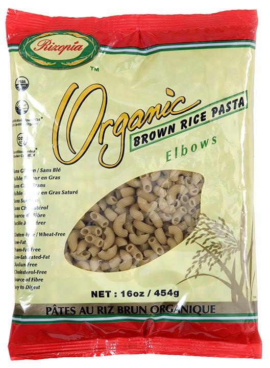 Food & Drink - Rizopia Food Products Inc. Organic Brown Rice Elbows 454g