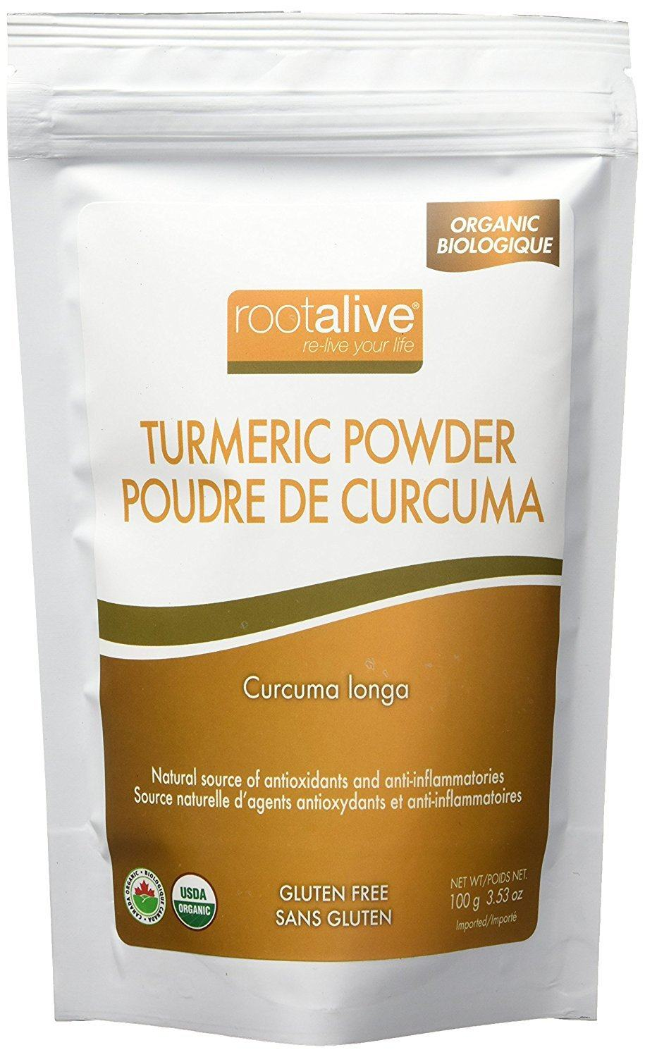 Food & Drink - Rootalive Organic Tumeric Powder 100g