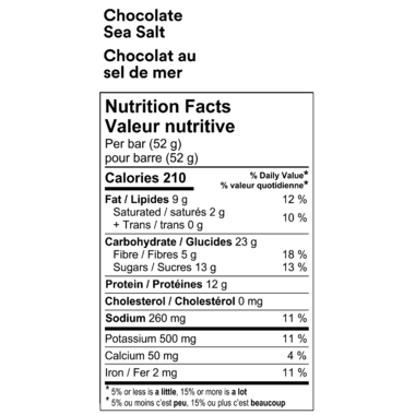Food & Drink - RXBAR - Chocolate Sea Salt, 52g