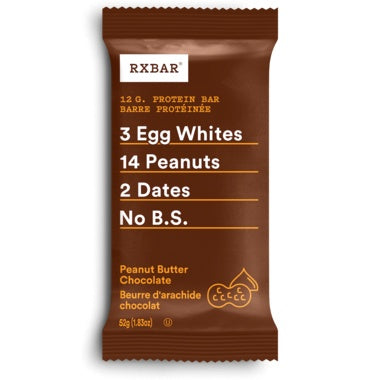 Food & Drink - RXBAR - Peanut Butter Chocolate, 52g