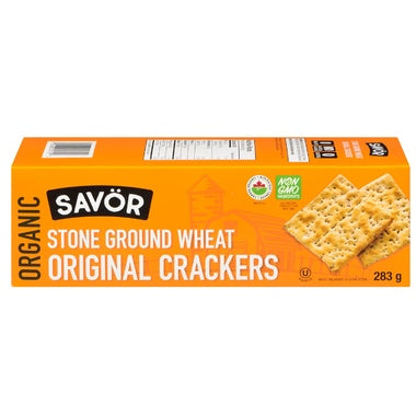 Food & Drink - Savor - Organic Stone Ground Wheat Original Crackers, 283g