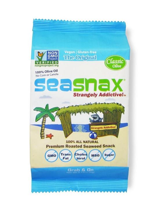 Food & Drink - Seasnax - Seaweed Snack Classic Olive, 5g