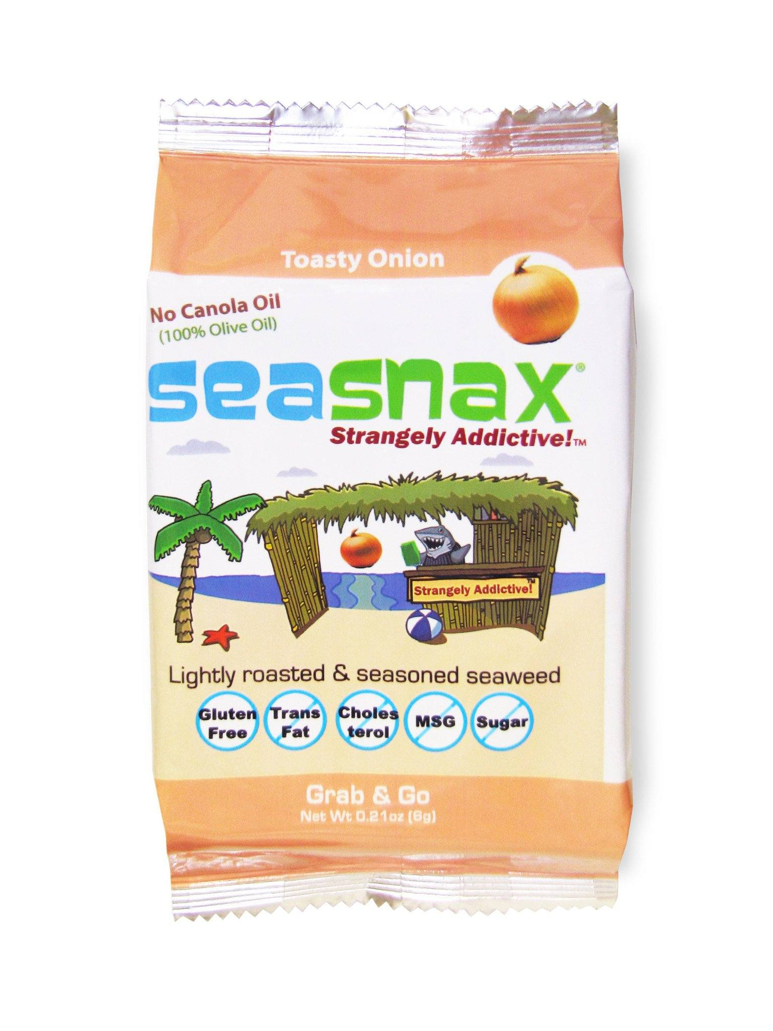 Food & Drink - Seasnax - Seaweed Snack Toasty Onion, 5g