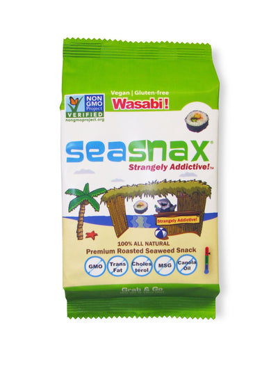 Food & Drink - Seasnax - Seaweed Snack Wasabi, 5g