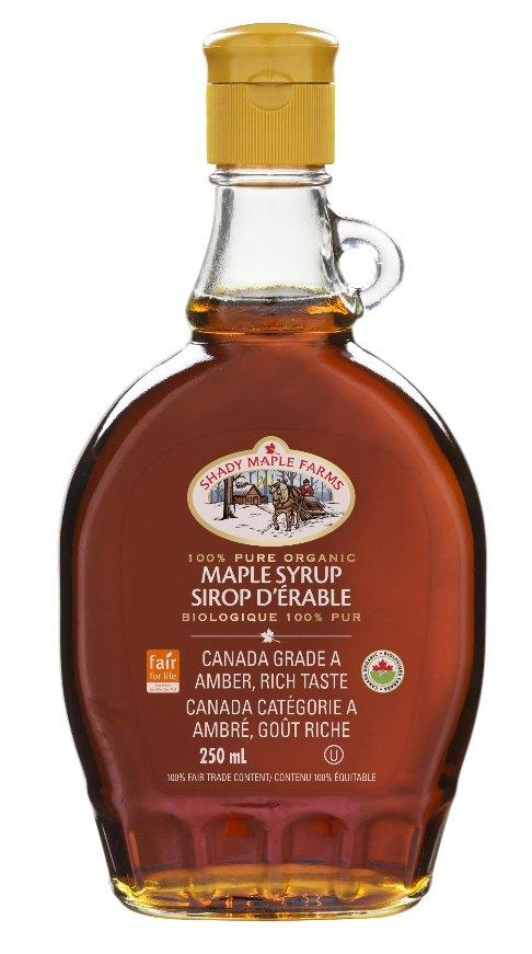 Food & Drink - Shady Maple Farms - Organic #1 Medium Maple Syrup, 250ml