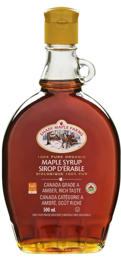 Food & Drink - Shady Maple Farms - Organic #1 Medium Maple Syrup, 500ml
