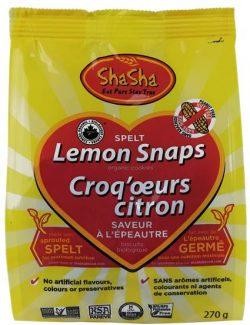 Food & Drink - ShaSha Bread Co. - Spelt Lemon Snaps, 270g