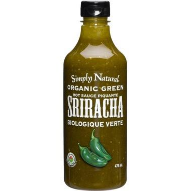 Food & Drink - Simply Natural - Organic Green Sriracha Hot Sauce 473ml