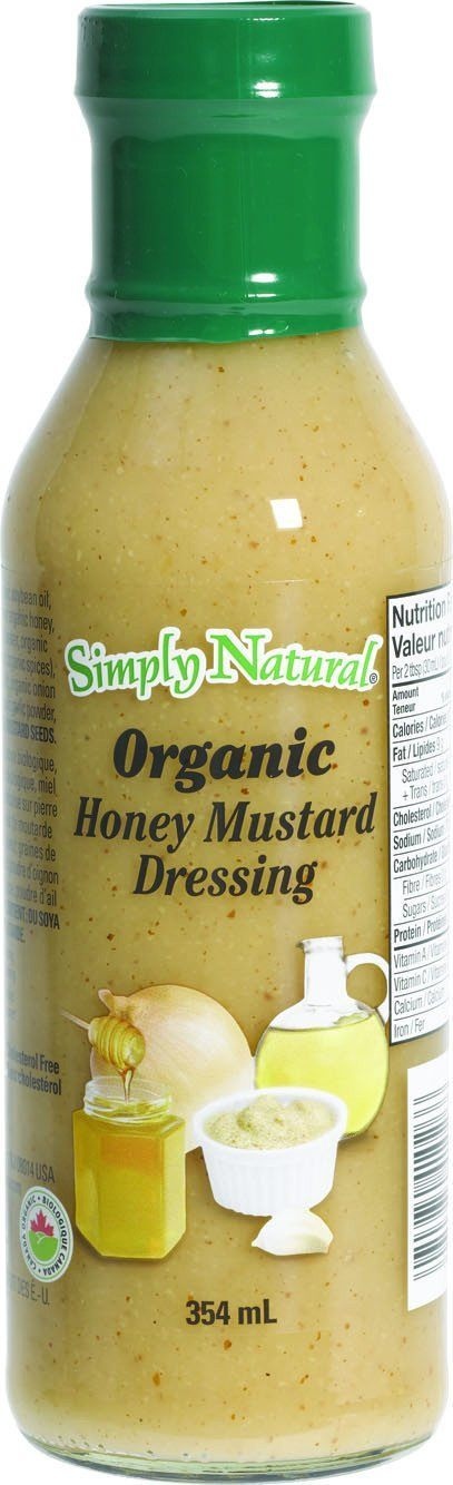 Food & Drink - Simply Natural - Organic Honey Mustard Dressing, 354ml