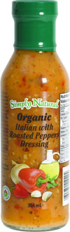 Food & Drink - Simply Natural - Organic Italian Roast Pepper Dressing, 354ml