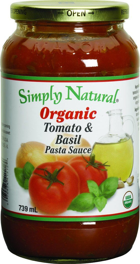 Food & Drink - Simply Natural - Organic Tomato & Basil Sauce, 700ml