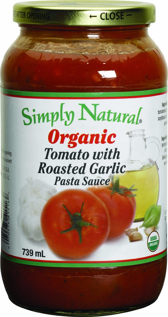 Food & Drink - Simply Natural - Organic Tomato With Roasted Garlic Sauce, 739ml
