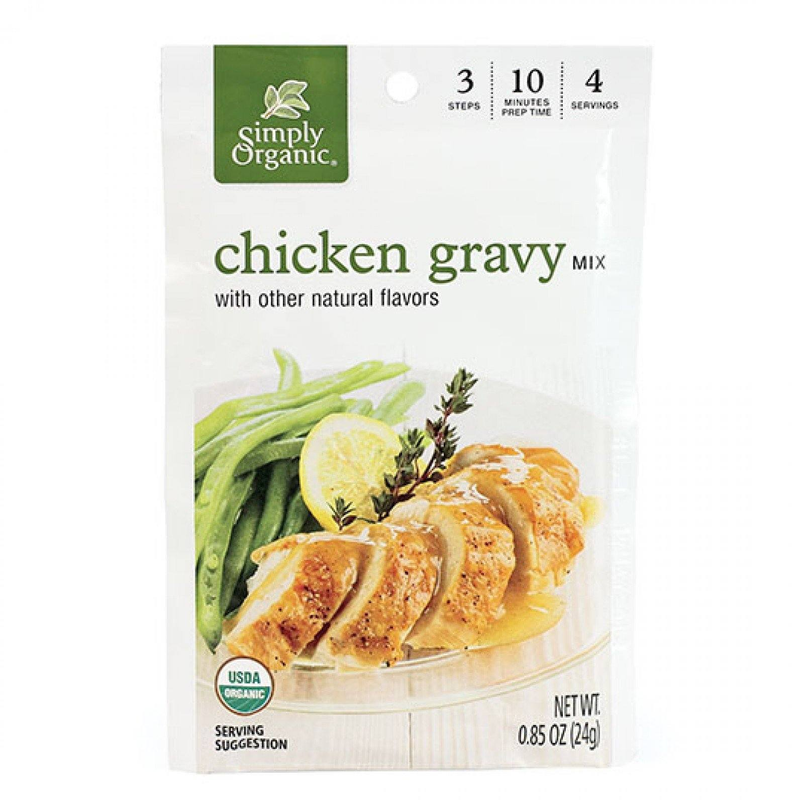 Food & Drink - Simply Organic Chicken Gravy Seasoning Mix - 28g