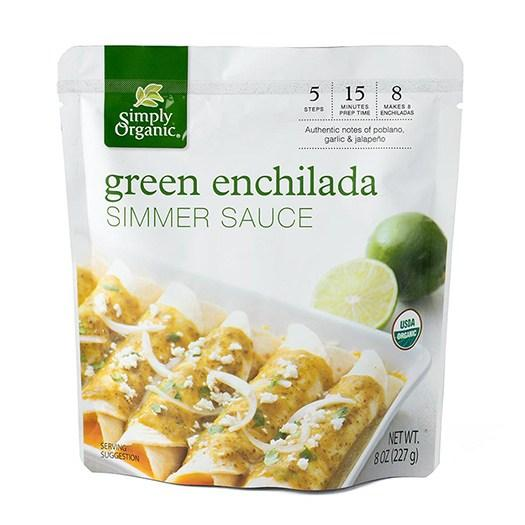 Food & Drink - Simply Organic - Green Enchilada Simmer Sauce, 227g