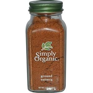 Food & Drink - Simply Organic Ground Nutmeg - 75g
