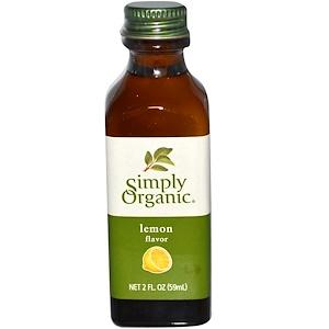 Food & Drink - Simply Organic - Organic Lemon Flavour - 59ml