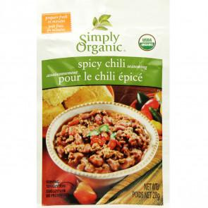 Food & Drink - Simply Organic Spicy Chili Seasoning Mix - 34g