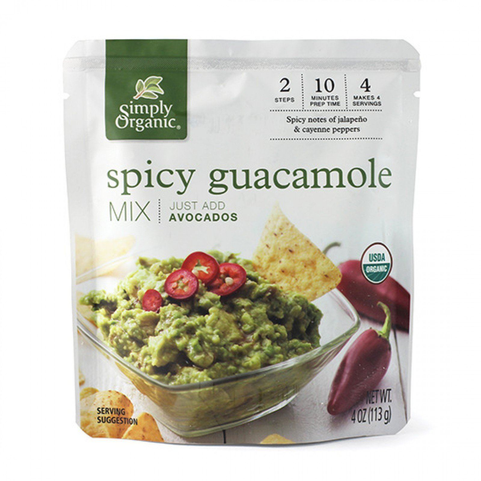 Food & Drink - Simply Organic - Spicy Guacamole Mix Sauce, 113g