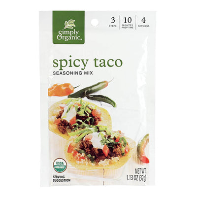 Food & Drink - Simply Organic - Spicy Taco Seasoning Mix, 37g