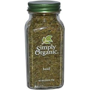 Food & Drink - Simply Organic Sweet Basil Leaf - 15g