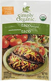 Food & Drink - Simply Organic Taco Seasoning Mix - 32g