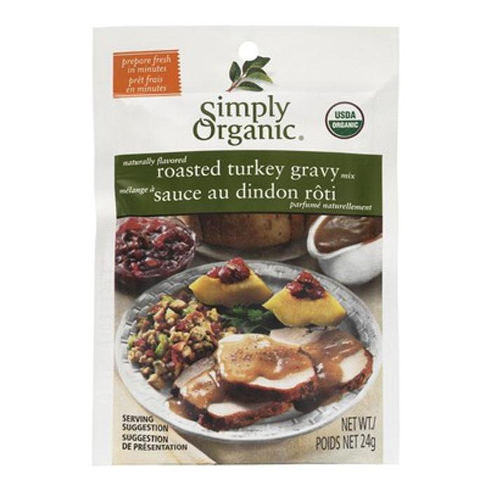 Food & Drink - Simply Organic - Turkey Gravy Seasoning Mix, 24g