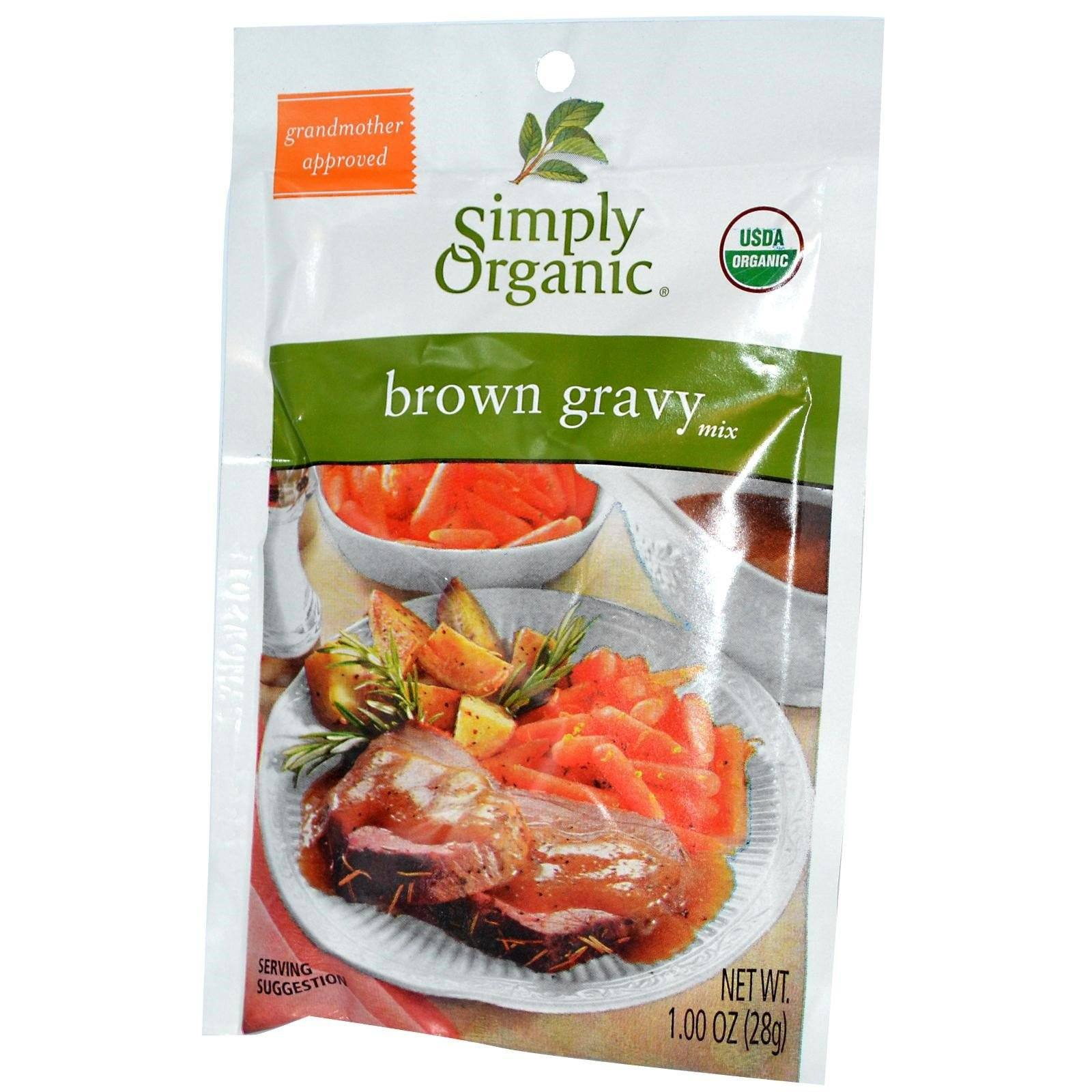 Food & Drink - Simply Organic - Vegetarian Brown Gravy Mix, 25g