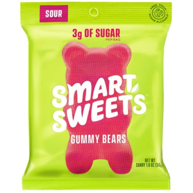 Food & Drink - Smart Sweets - Gummy Bears - Sour, 50g
