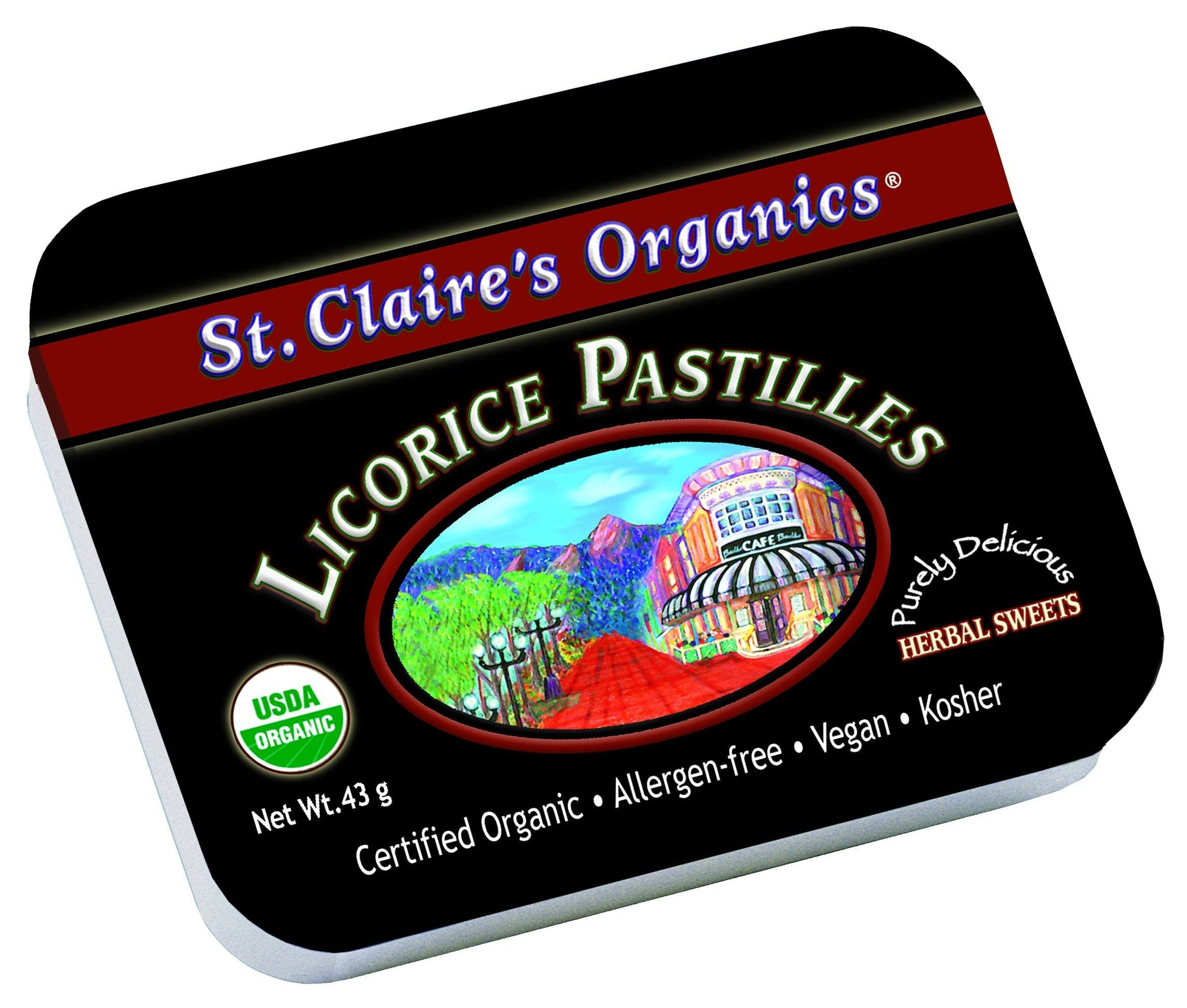 Food & Drink - St. Claire's Organic Licorice Sweets - 43g
