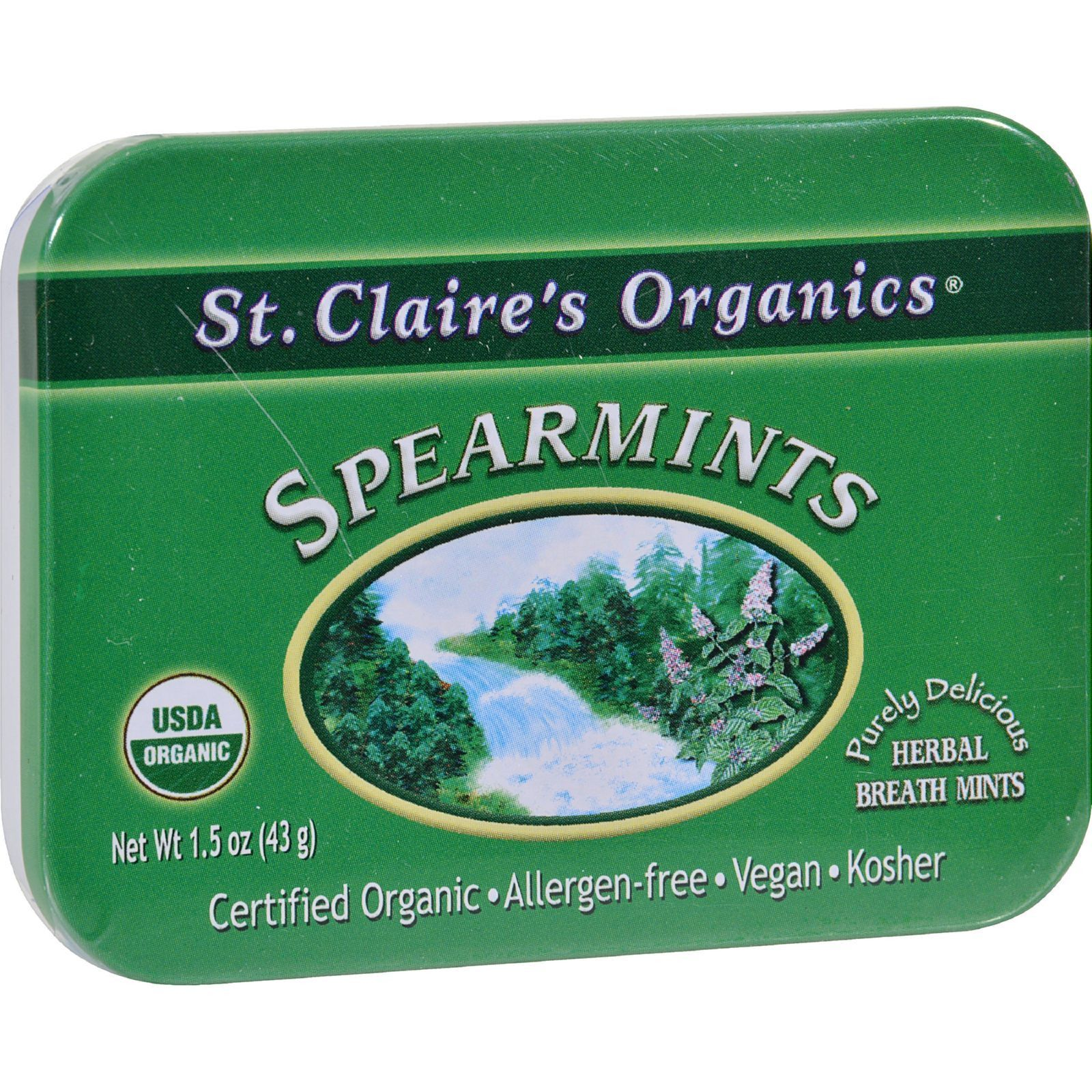 Food & Drink - St. Claire's Organic Spearmints - 43g