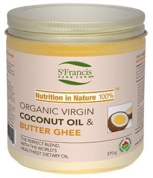 Food & Drink - St. Francis - Organic Virgin Coconut Oil & Butter Ghee, 370g