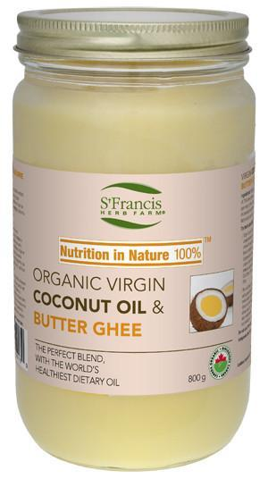 Food & Drink - St. Francis - Organic Virgin Coconut Oil & Butter Ghee, 800g