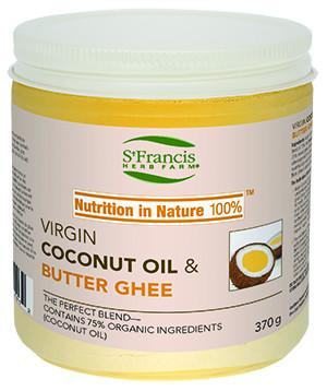 Food & Drink - St. Francis - Virgin Coconut Oil & Butter Ghee, 370g