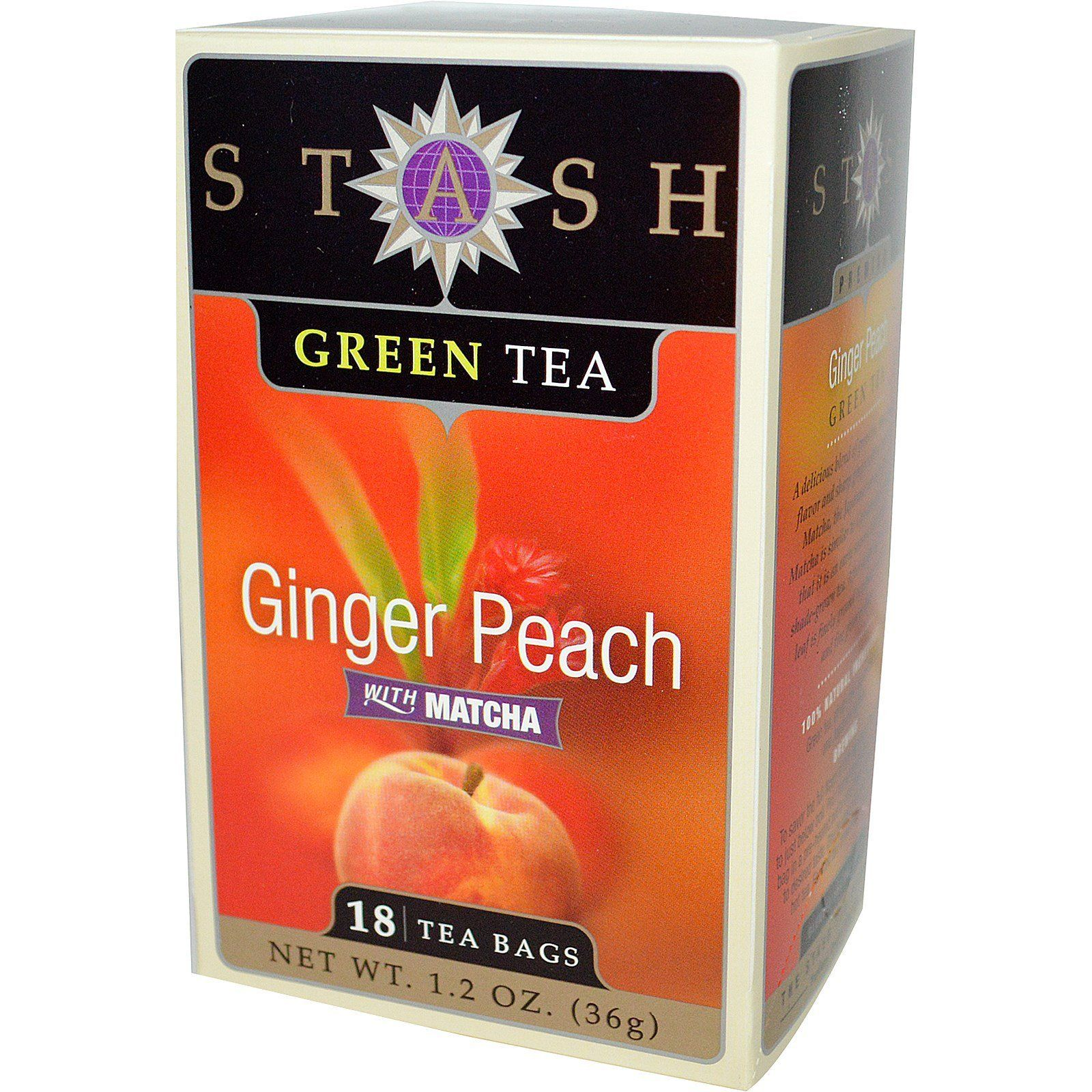 Food & Drink - Stash - Ginger Peach Green Tea, 18 Bags