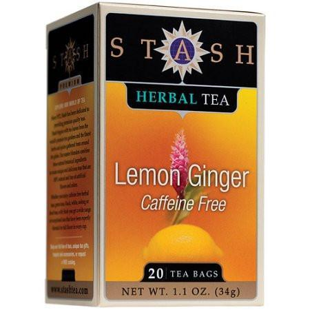 Food & Drink - Stash - Lemon Ginger Herbal Tea, 20 Bags