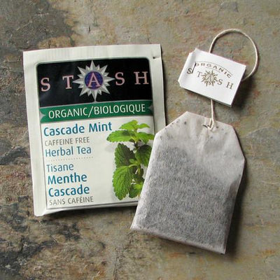 Food & Drink - Stash - Organic Cascade Mint Herbal Tea, 18 Bags