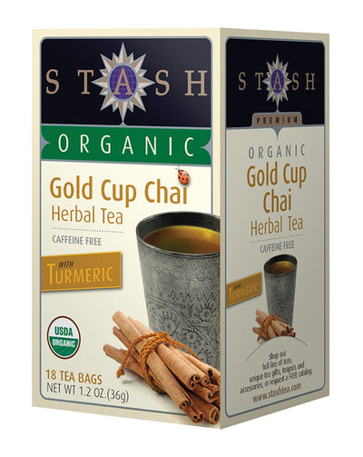 Food & Drink - Stash - Organic Gold Cup Chai Tea, 18 Bags