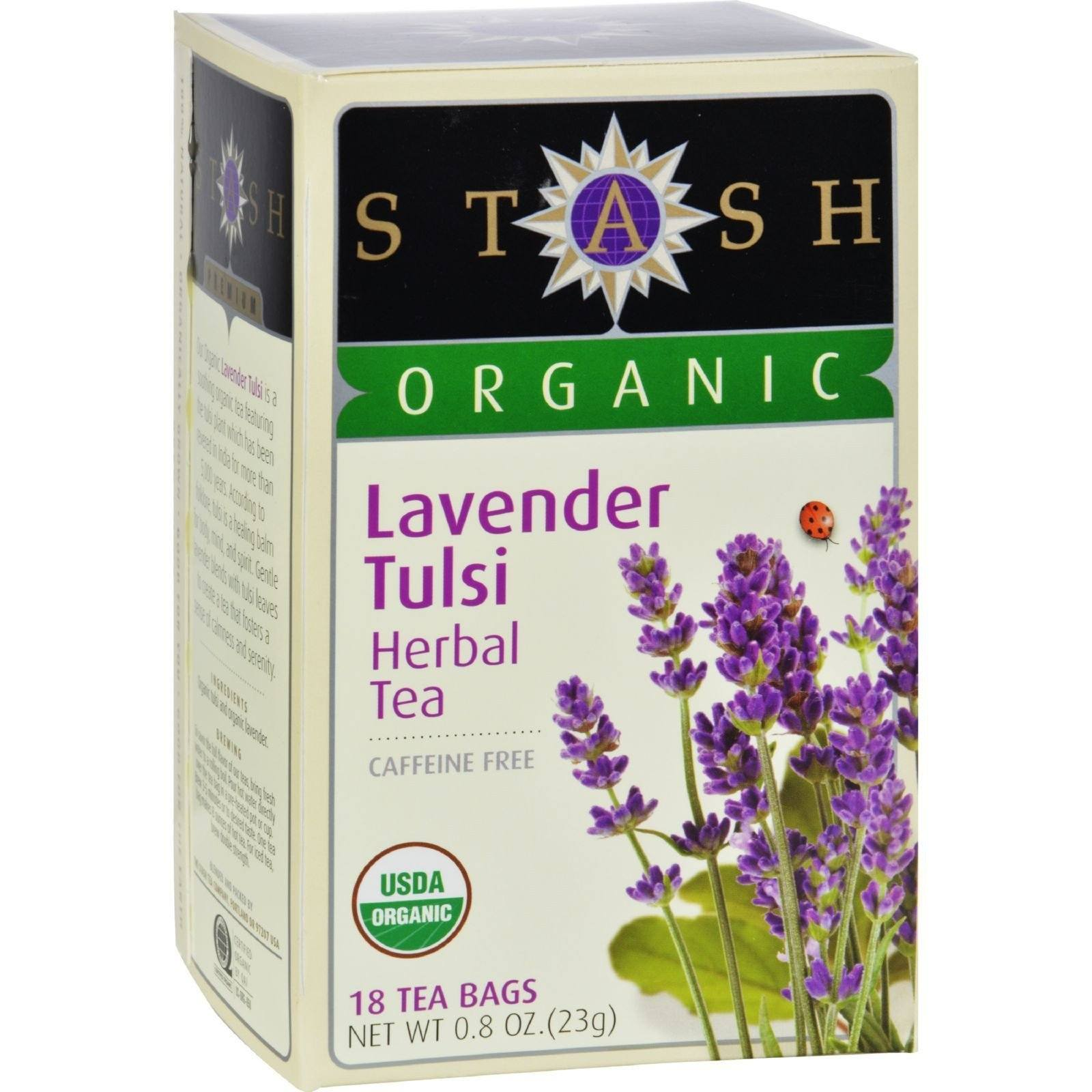 Food & Drink - Stash -Organic Lavender Tulsi Tea - 18 Bags
