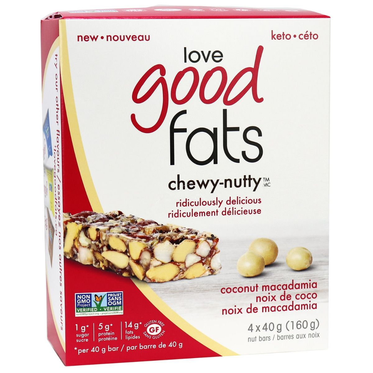 Food & Drink - Suzie's Good Fat Bars - Coconut Macadamia Chewy Nutty Bars, 4 X 40 G