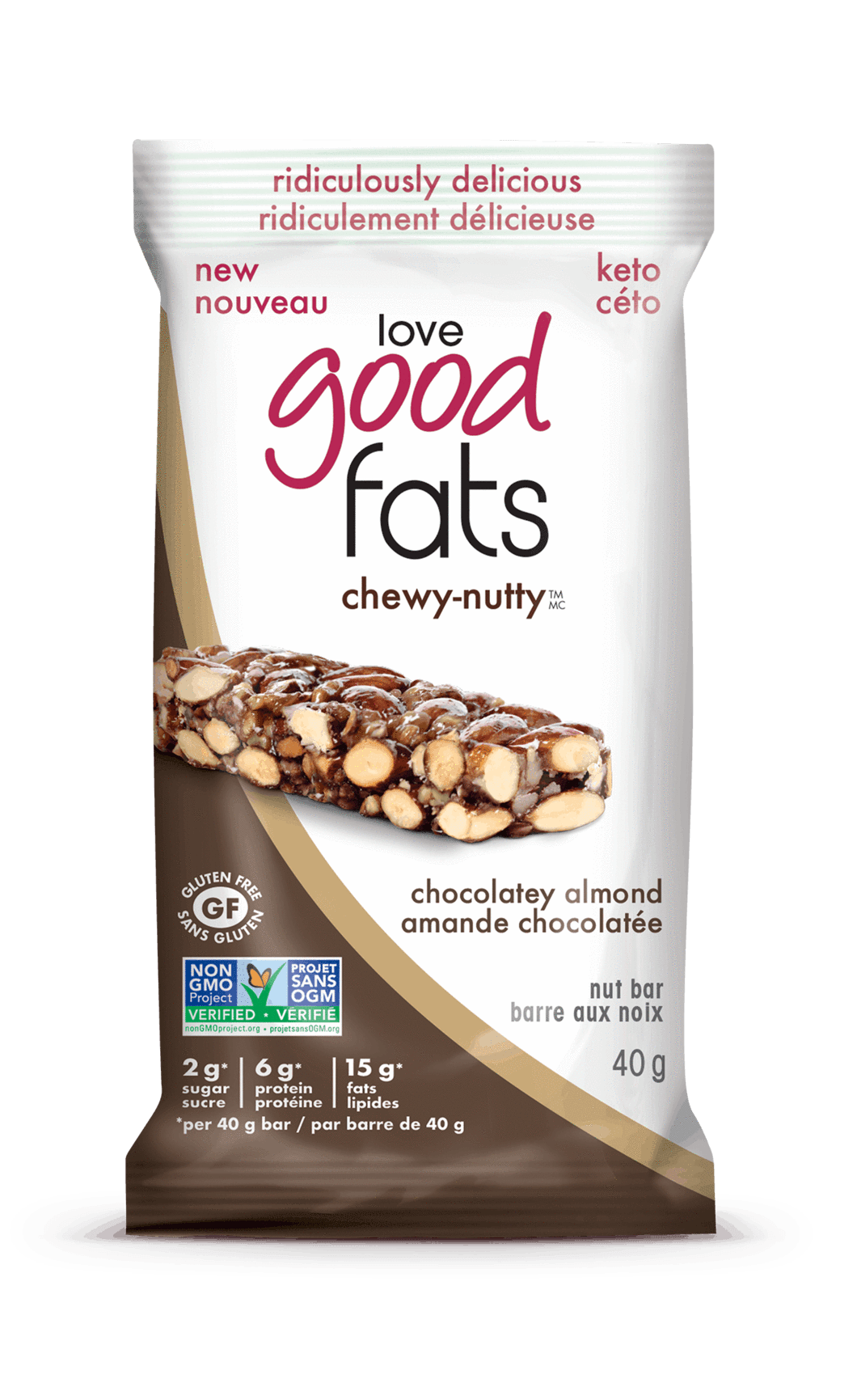 Food & Drink - Suzie's Good Fats - Chocolatey Almond Chewy Nutty Bar, 40g