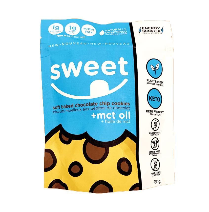 Food & Drink - Sweet Nutrition - Soft Baked Chocolate Chip Cookies + MCT Oil