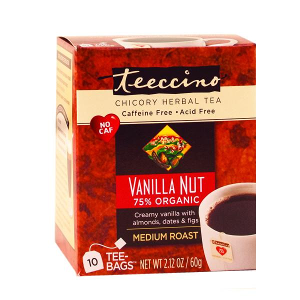 Food & Drink - Teeccino Caffe Inc. - Vanilla Nut Herbal Coffee Tee, 10 Bags